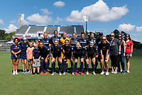 Cary, North Carolina - Saturday, August 3, 2019: North Carolina Courage vs Washington Spirit at Sahlen's Stadium at WakeMed Soccer Park.
