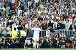 Real Madrid's Cristiano Ronaldo celebrates goal during Champions League 2014/2015 Semi-finals 2nd leg match.May 13,2015. (ALTERPHOTOS/Acero)