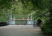 Sanierung Rekonstruktion Bauarbeiten Baustelle an der Rennbahnbrücke an der Rennbahn Scheibenholz im Clara-Zetkin-Park in Leipzig . Foto: Norman Rembarz..Jegliche kommerzielle Nutzung ist honorar- und mehrwertsteuerpflichtig! Persönlichkeitsrechte sind zu wahren. Es wird keine Haftung übernommen bei Verletzung von Rechten Dritter. Autoren-Nennung gem. §13 UrhGes. wird verlangt. Weitergabe an Dritte nur nach  vorheriger Absprache..