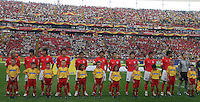 Korea Republic players are introduced prior to the game. Korea Republic defeated Togo 2-1 in their FIFA World Cup Group G match at the FIFA World Cup Stadium, Frankfurt, Germany, June 13, 2006.