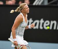 16-06-13, Netherlands, Rosmalen,  Autotron, Tennis, Topshelf Open 2013, First round,  Michaella Krajicek wins first round<br /> <br /> Photo: Henk Koster