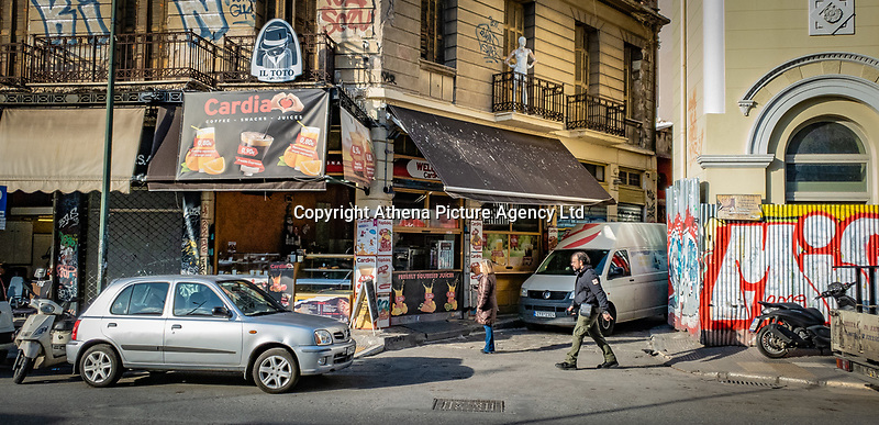 Pictured: Ermou Street.<br /> Re: Street photography, Athens, Greece. Thursday 27 February 2020