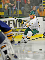 16 February 2008: University of Vermont Catamounts' forward Colin Vock, a Sophomore from Plymouth, MI, in action against the Merrimack College Warriors at Gutterson Fieldhouse in Burlington, Vermont. The Catamounts defeated the Warriors 2-1 for their second win of the 2-game weekend series...Mandatory Photo Credit: Ed Wolfstein Photo