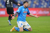 Andrea Petagna of SSC Napoli gestures during the Italy Cup football match between SSC Napoli and Empoli FC at stadio Diego Armando Maradona in Napoli (Italy), January 13, 2021. <br /> Photo Cesare Purini / Insidefoto