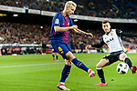 Jose Luis Gaya of Valencia CF (R) fights for the ball with Ivan Rakitic of FC Barcelona (L) during the Copa Del Rey 2017-18 match between FC Barcelona and Valencia CF at Camp Nou Stadium on 01 February 2018 in Barcelona, Spain. Photo by Vicens Gimenez / Power Sport Images