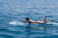 Europe/France/Aquitaine/40/Landes/ Capbreton: Stéphanie Barneix championne du monde de paddleboard lors d'une compétition