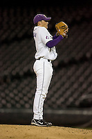 April 4, 2008: University of Washington junior Nick Haughian prepares to deliver pitch against the University of Arizona at Safeco Field in Seattle, Washington.  Haughian threw a 2-hit complete game shutout and struck out 15 Arizona batters in the 2-0 win.