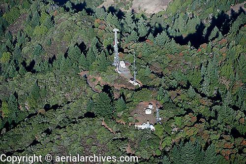 aerial photograph celluar telephone towers Sonoma County, California