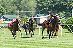 JULY 18, 2020: Decorated Invader, #7 with Joel Rosario up win the Grade 2 National Museum of Racing Hall of Fame Stakes on the turf at Saratoga Race Course. Rob Simmons/Eclipse Sportswire/CSM