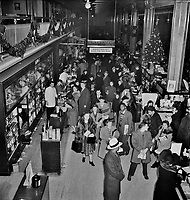 R. H. Macy and Company department store during the week before Christmas. New York, New York. December 1941.<br /> <br /> Photo by Marjory Collins.