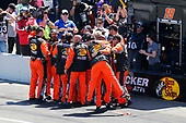 #19: Martin Truex Jr., Joe Gibbs Racing, Toyota Camry Bass Pro Shops crew celebrates the win