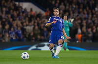 Cesar Azpilicueta of Chelsea plays a pass during the UEFA Champions League match between Chelsea and Maccabi Tel Aviv at Stamford Bridge, London, England on 16 September 2015. Photo by Andy Rowland.