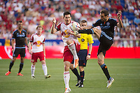 HARRISON, NJ - Sunday May 10, 2015: The New York Red Bulls defeat cross-town rivals New York City FC 2-1 in the first ever meeting of the two teams at Red Bull Arena in the MLS regular season.
