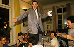 Holly Johnson of Frankie Goes to Hollywood, celebrating success of 'Relax Don't Do It'. Munich Germany 1983.