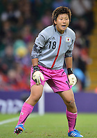 July 31, 2012..Japan's Ayumi Kaihori (18) in action during Group F women's Football match between JPN and RSA at the Millennium Stadium on day four of 2012 Olympic Games in Cardiff, United Kingdom...