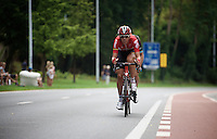 Vegard Breen (NOR/Lotto-Soudal) crosses the gap to the front of the race<br /> <br /> GP Jef Scherens 2015