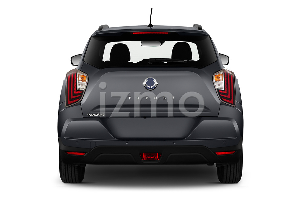 Straight rear view of 2020 Ssangyong Tivoli Quartz 5 Door SUV Rear View  stock images