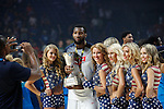 United State´s Drummond poses with the award after their victory at the FIBA Basketball World Cup Spain 2014 final match after winning against Serbia at `Palacio de los deportes´ stadium in Madrid, Spain. September 14, 2014. (ALTERPHOTOSVictor Blanco)