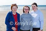 Enjoying a stroll on Banna beach on Thursday, l to r: Bernie O'Sullivan, Chloe Quirke and Ria Murphy Quirke.