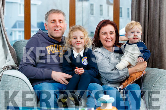 Jake O'Donovan with his sister Sadie and Parents Alex and Jenny at their home in Ballyard.