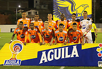 ENVIGADO- COLOMBIA, 19-07-2019.Formación del Envigado ante el   Deportivo Pasto durante partido por la fecha 2 de la Liga Águila II 2019 jugado en el estadio Polideportivo Sur de la ciudad de Medellín. /Team of Envigado agaisnt of Deportvo Pasto during the match for the date 2 of the Liga Aguila II 2019 played at Polideportivo Sur stadium in Medellin  city. Photo: VizzorImage / Envigado FC