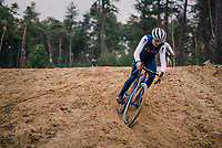 Many of the Belgian (and also foreign) pro cyclocross riders usually have a mid-week (technical) training session (mostly on wednesdays) in the 'Zwarte Water' forrest situated in the Belgian 'Kempen' area.<br /> The forrest has a dedicated cyclocross parcours and is, without a doubt, THE cyclocross training hotspot in the world.<br /> <br /> European CX Champion Tom Pidcock (GBR) is here to further craft his skills<br /> <br /> Kasterlee, december 2018