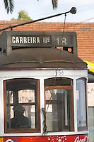 Old tram. Lisbon, Portugal