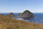 Sisters Rock State Park, Oregon Coast, USA, and unimproved state park formerly known as the harbor of Frankport, Oregon.  On the Oregon Coast south of Humbug Mountain and Port Orford, it once served as a coastal harbor complete with small gauge railway.  A natural harbor once used for smuggling marijuana.  Also known as Devil's Backbone.