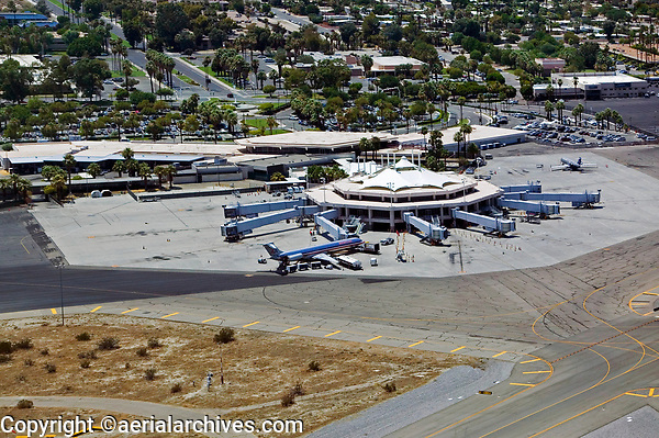 Palm Springs airport (PSP) terminal, Palm Springs, Riverside County, California
