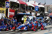 2017 Verizon IndyCar Series<br /> Toyota Grand Prix of Long Beach<br /> Streets of Long Beach, CA USA<br /> Sunday 9 April 2017<br /> Takuma Sato, pit stop<br /> World Copyright: Michael L. Levitt<br /> LAT Images