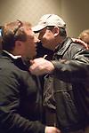 Ed Jordan hugs Spiro Mitrokostas, who is the TV bubble boy.  Spiro Mitrokostas Eliminated 7th ($125,256)