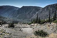 Ancient Theatre (4th cent. B.C.) in Delphi, Greece