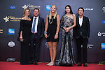 Wu Zhoutong and his girlfriend Jin Ye, Anna Nordqvist of Sweden, Rich Beem and his wife Sarah on the Red Carpet event at the World Celebrity Pro-Am 2016 Mission Hills China Golf Tournament on 20 October 2016, in Haikou, China. Photo by Marcio Machado / Power Sport Images