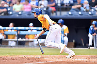 Beer City Tourists designated hitter Willie Abreu (6) swings at a pitch during a game against the Lakewood BlueClaws at McCormick Field on June 1, 2017 in Asheville, North Carolina. The Tourists defeated the BlueClaws 8-5. (Tony Farlow/Four Seam Images)