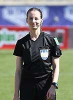 20190301 - LARNACA , CYPRUS : assistant referee Susanne Kung pictured during a women's soccer game between Finland and Czech Republic , on Friday 1 March 2019 at the AEK Arena in Larnaca , Cyprus . This is the second game in group A for Both teams during the Cyprus Womens Cup 2019 , a prestigious women soccer tournament as a preparation on the Uefa Women's Euro 2021 qualification duels. PHOTO SPORTPIX.BE   DAVID CATRY