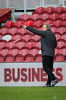 13th March 2021; Riverside Stadium, Middlesbrough, Cleveland, England; English Football League Championship Football, Middlesbrough versus Stoke City; Neil Warnock, Manager of Middlesbrough sends in instructions