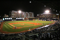 Charlotte Knights at the Durham Bulls Athletic Park on April 22nd, 2008. Photo by Andrew Woolley / Four Seam Images