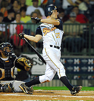 John Jaso of the Montgomery Biscuits hits in the 2007 Southern League All-Star Game July 9, 2007, at Trustmark Park in Pearl, Miss. Photo by:  Tom Priddy/Four Seam Images