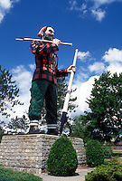 Paul Bunyan, Bangor, Maine, ME, A giant statue of Paul Bunyan in a park in Bangor.