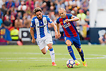 Andres Iniesta of FC Barcelona in action during their La Liga match between Deportivo Leganes and FC Barcelona at the Butarque Municipal Stadium on 17 September 2016 in Madrid, Spain. Photo by Diego Gonzalez Souto / Power Sport Images
