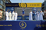 Race leader Elia Viviani (ITA) Quick-Step Floors wins overall at the end of Stage 5 The Meraas Stage final stage of the Dubai Tour 2018 the Dubai Tour's 5th edition, running 132km from Skydive Dubai to City Walk, Dubai, United Arab Emirates. 10th February 2018.<br /> Picture: LaPresse/Massimo Paolone | Cyclefile<br /> <br /> <br /> All photos usage must carry mandatory copyright credit (© Cyclefile | LaPresse/Massimo Paolone)