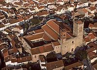 Europe/France/Languedoc-Roussillon/66/Pyrénées-Orientales/Elne: La ville - Vue aérienne