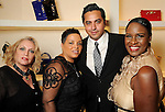 From left: Vicki Rusca, Nicola John-Baptiste, Christian Garcia and Barbara Ardoin at the Versace pre-party for the Vogue Galleria Fashion Show at the Galleria Thursday Sept. 10,2015.(Dave Rossman photo)