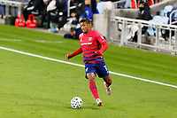 ST PAUL, MN - SEPTEMBER 9: Santiago Mosquera #11 of FC Dallas dribbles the ball during a game between FC Dallas and Minnesota United FC at Allianz Field on September 9, 2020 in St Paul, Minnesota.