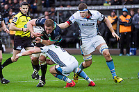 Sunday 26 February 2017<br /> Pictured: Ospreys second row LLoyd Ashley in action.<br /> RE: Guinness Pro12 Ospreys v Glasgow at the the Liberty Stadium, Swansea, Wales, UK