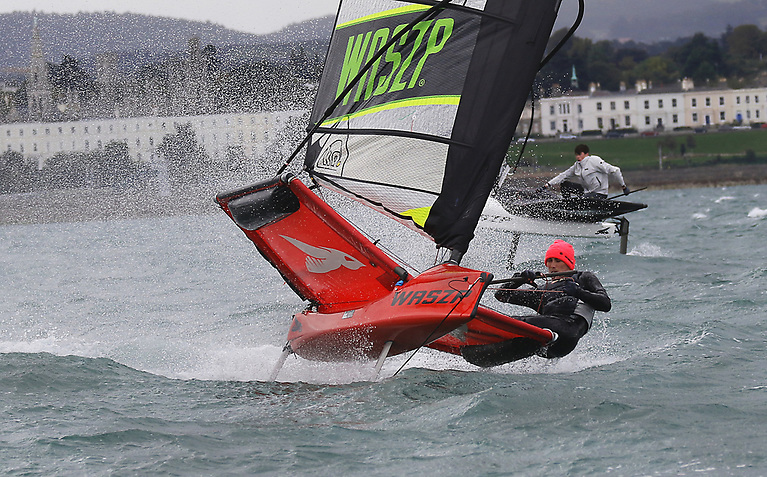 Wasps in breeze on Dublin Bay for the Irish National Championships