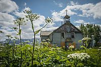 Catholic Mission ghost town at Pilgrim Hotsprings, near Nome, Alaska. Photo by James R. Evans