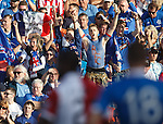 Rangers fans in the TD Place Stadium, Ottawa