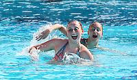 Stanford, CA; Saturday February 11, 2012: Synchronized Swimming, Stanford vs Incarnate Word.<br /> Stanford Duet 1: Anna Boyle, Leigh Haldeman.