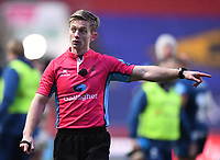 1st January 2021; Ashton Gate Stadium, Bristol, England; Premiership Rugby Union, Bristol Bears versus Newcastle Falcons; Referee Christopher Ridley calls for a TMO review
